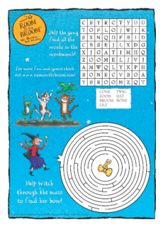 Room on the Broom Wordsearch