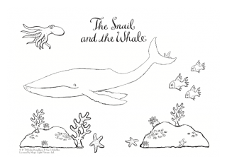 Snail and the Whale colouring